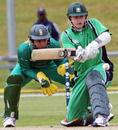 Ireland's Ben Ackland sweeps during his 66,  Ireland Under-19s v South Africa Under-19s, 3rd Match, Group B, ICC Under-19 World Cup, Queenstown, January 15, 2009