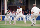 Nasser Hussain slashes one of his way to a double-century