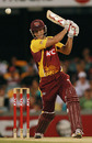 Chris Simpson during his belligerent innings, Queensland v Western Australia, Twenty20 Big Bash, Brisbane, January 16, 2010