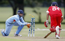 Sufiyan Shaikh runs out Waqas Barkat, India Under-19s v Hong Kong Under-19s, 11th Match, Group A, ICC Under-19 World Cup, Christchurch, January 17, 2010
