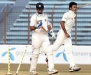 Rahul Dravid was comprehensively bowled by Shahadat Hossain