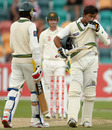 Khurram Manzoor kisses his badge after reaching his half-century, 3rd Test, Australia v Pakistan, 5th day, Hobart, January 18, 2010