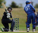 Chris Dent shovels one to the on side during his unbeaten 53, Afghanistan Under-19s v England Under-19s, 13th Match, Group A, ICC Under-19 World Cup, Christchurch, January 18, 2010