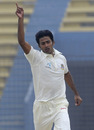 Shahadat Hossain celebrates his five-wicket haul