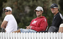 Shane Bond, Nathan Astle and John Wright take in the game, New Zealand Under-19s v Zimbabwe Under-19s, 19th Match, Group C, ICC Under-19 World Cup, Lincoln, January 19, 2010