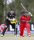 Tom Latham looks on as Tinotenda Mutombodzi sweeps, New Zealand Under-19s v Zimbabwe Under-19s, 19th Match, Group C, ICC Under-19 World Cup, Lincoln, January 19, 2010