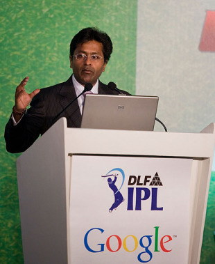 Lalit Modi announces the IPL-Google deal, Mumbai, January 20, 2010