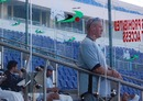 UAE coach Colin Wells looks on, UAE v Uganda, ICC Intercontinental Shield, Abu Dhabi