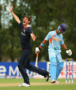 David Payne successfully appeals for an edge off Harpreet Singh, England Under-19s v India Under-19s, 24th Match, Group A, ICC Under-19 World Cup, Lincoln, January 21, 2010