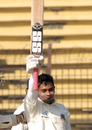 Mushfiqur Rahim salutes the crowd on his century, Bangladesh v India, 1st Test, Chittagong, 5th day, January 21, 2010