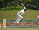 Peter Connell bowls, Afghanistan v Ireland, ICC Intercontinental Cup, Dambulla, 1st day, January 22, 2010