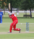 Hong Kong U19's skipper James Atkinson fell early against Afghanistan U19