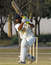 Rajshahi's Farhad Hossain drives during his century against Chittagong, Rajshahi v Chittagong, National Cricket League, 3rd day, Savar, January 22, 2009