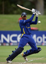 Akshu Fernando plays off the back foot, South Africa Under-19s v Sri Lanka Under-19s, 2nd Quarter-Final, ICC Under-19 World Cup, Lincoln, January 24, 2010