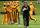 Michael Bracewell departs as Australia surge towards victory, New Zealand Under-19s v Australia Under-19s, 3rd Quarter-Final, ICC Under-19 World Cup, Rangiora, January 24, 2010