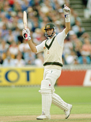 Mark Waugh made a hundred on debut