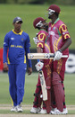 Yannic Cariah and Jason Holder celebrate after hitting the winning runs, Sri Lanka v West Indies, ICC Under-19 World Cup, 3rd place play-off, Christchurch, 29 January, 2010