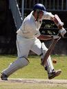 Douglas Lockhart on his way to unbeaten fifty, Kenya v Scotland, Intercontinental Cup, Nairobi, 4th day, January 28, 2009