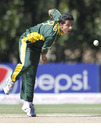 Sarmad Bhatti led Pakistan's bowling with 3 for 33, Australia v Pakistan, Under-19 World Cup final, Lincoln, 30 January, 2010