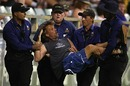 The pitch invader is carried off by security officials, Australia v Pakistan, 5th ODI, Perth, January 31, 2010