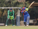 Karim Sadiq hits out as Niall O'Brien looks on, Afghanistan v Ireland, Associates T20 Series, Colombo, February 1, 2010
