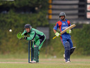 Niall O'Brien fields the ball as Karim Sadiq completes a run, Afghanistan v Ireland, Associates T20 Series, Colombo, February 1, 2010