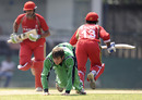Gary Kidd is reduced to his knees by the Canada batsmen, Canada v Ireland, Sri Lanka Associates T20 Series, 3rd Match, Colombo, February 3, 2010