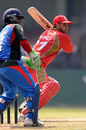 Abdool Samad plays through the off side as Mohammad Shahzad looks on, Afghanistan v Canada, Associate T20 Series, Colombo, February 4, 2010