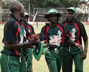 Nehemiah Odhiambo is congratulated for taking 5 for 20, Kenya v Scotland, Kenya T20 Tri-Series, 6th match, Nairobi, February 4, 2010