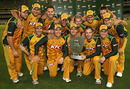 The Australians celebrate their Twenty20 success, Australia v Pakistan, only Twenty20, February 5, 2010
