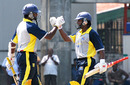 Chinthaka Jayasinghe and Jeewan Mendis celebrate adding 150, Basnahira North v Kandurata, Sri Lanka Cricket Inter-Provincial Limited Over Tournament, Colombo, February 6, 2010