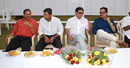 Lalchand Rajput, Wasim Jaffer, Karsan Ghavri and Dilip Vengsarkar at an MCA ceremony, Mumbai, February 8, 2010
