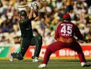 Shane Watson muscles a drive during his half-century, Australia v West Indies, 2nd ODI, Adelaide, 9 February, 2010