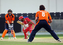 Ashish Bagai is bowled by Pieter Seelaar