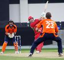 Ian Billcliff hits Daan van Bunge for six, Canada v Nethlands, ICC World Twenty20 Qualifiers, February 9, 2010