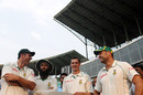 Graeme Smith, Hashim Amla, Dale Steyn and Jacques Kallis share a light moment, India v South Africa, 1st Test, Nagpur, 4th day, February 9, 2010