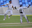 Qasim Zubair jumps for joy on his way to a five-wicket haul, Netherlands v UAE, ICC World Twenty20 Qualifiers, February 10, 2010