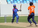 Nawroz Mangal is bowled by Mark Jonkman, Afghanistan v Netherlands, ICC World Twenty20 Qualifiers, February 12, 2010