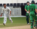 Saqib Ali celebrates the wicket of William Porterfield, UAE v Ireland, ICC World Twenty20 Qualifiers, Dubai, February 12, 2010