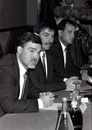 Mike Gatting, David Graveney and John Emburey at the pre-tour press conference
