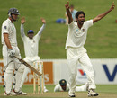 Shahadat Hossain appeals for an lbw against TIm McIntosh