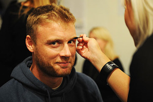 Andrew Flintoff spruces up before hitting the ramp for Naomi Campbell's Fashion For Relief - Haiti, London, February 18, 2010