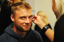 Andrew Flintoff spruces up before hitting the ramp