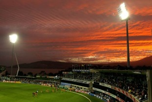 The new lights at Bellerive Oval for the ground's first day-night international, Australia v West Indies, 1st Twenty20, Hobart, February 21, 2010