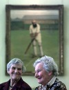 Audrey Collins and Diana Rait Kerr in the Long Room in front of a portrait of WG Grace. They are among the first ladies to be welcomed into the Long Room , Lord's, March 16, 1999