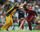 Wavell Hinds is run-out by Cameron White's throw to Steven Smith, Australia v West Indies, 2nd T20, Sydney, February 23, 2010