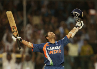 Sachin Tendulkar savours reaching his double century, 2nd ODI, Gwalior, February 24, 2010