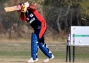 Abdul Majeed is bowled, Bahrain v Fiji, ICC World Cricket League Division 5, February 26, 2010