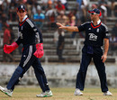 Matt Prior talks to keeper Craig Kieswetter, BCB XI v England XI, 2nd warm-up, Fatullah, February 25, 2009