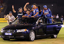 The Indians go for a spin in a Volvo S80